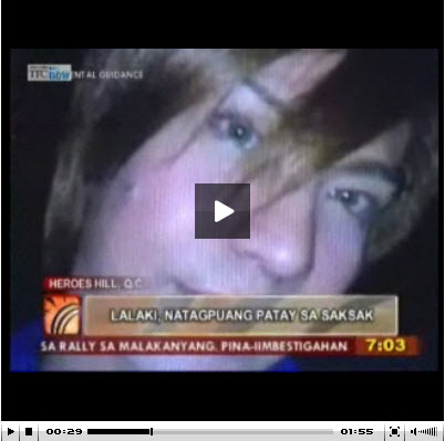 Click the Image to see the TV Patrol News Footage