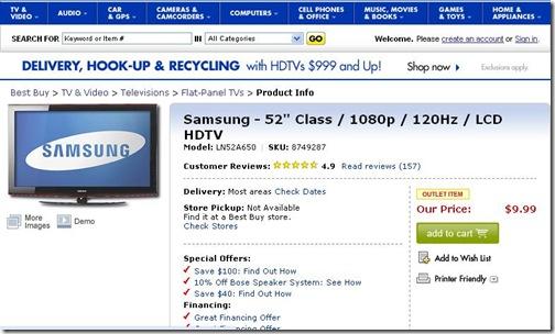 Samsung LN52A650