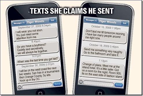 Tiger Woods SMS