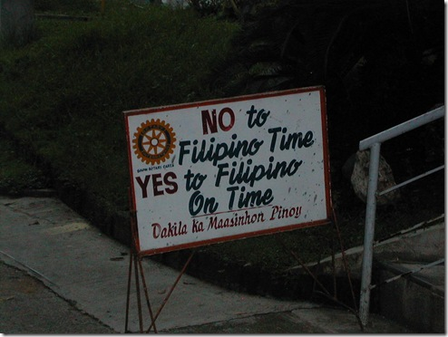Filipino Time - Hate Late!!!