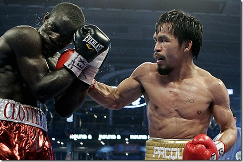 The Pacman Punch! (Photo from AP via CNN)