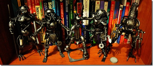 Recycled Metal Robots