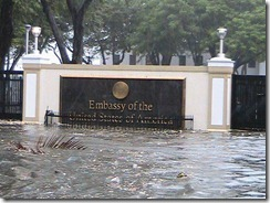 Taken this morning. Photo courtesy of Keith Brown. – the floating US embassy in Manila.