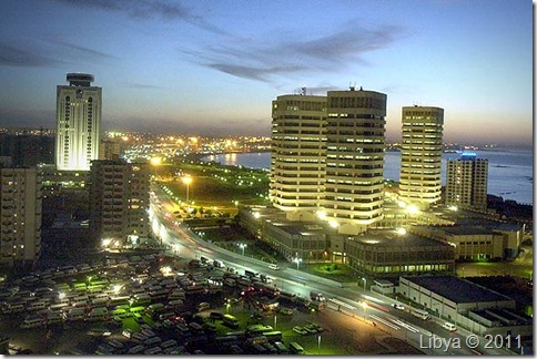 Libya's Skyline by Night